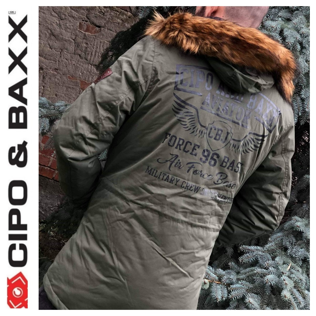877c121563 CIPO AND BAXX AIR FORCE KHAKI | Cipo & Baxx Red Bridge Dzseki Kabát ...